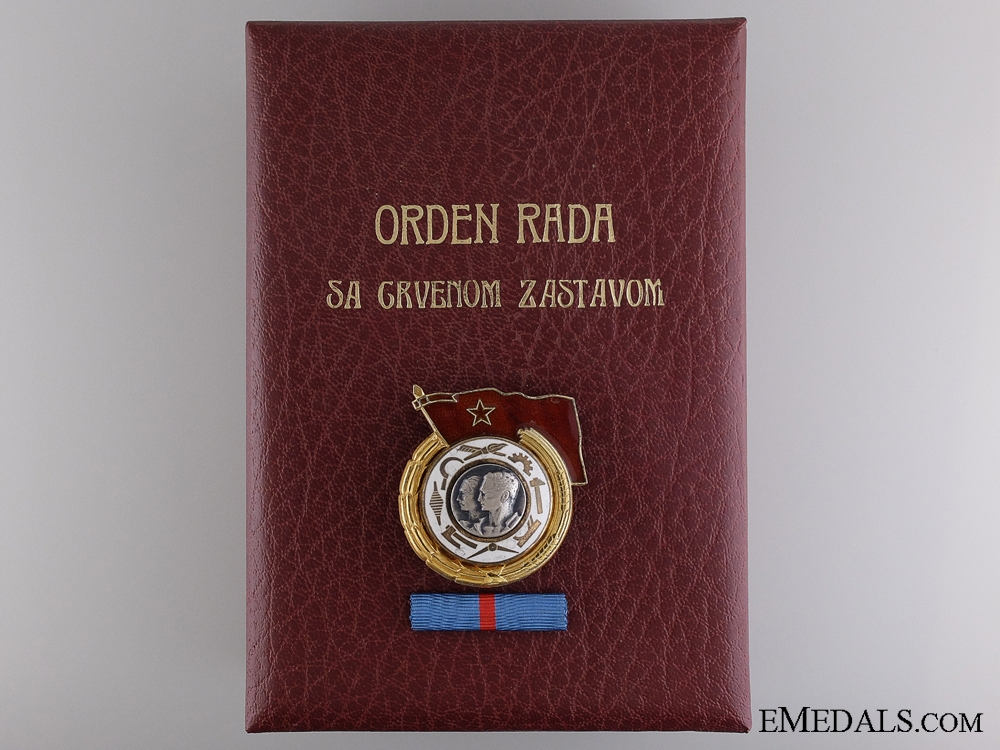 eMedals-A Yugoslavian Order of the Work with Red Banner; 1st Class with Document
