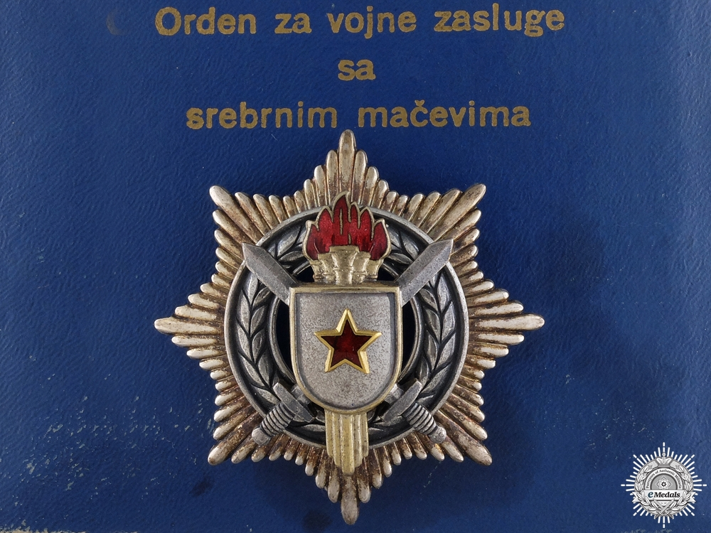 eMedals-A Yugoslavian Order of Military Merit with Silver Swords; 3rd Class