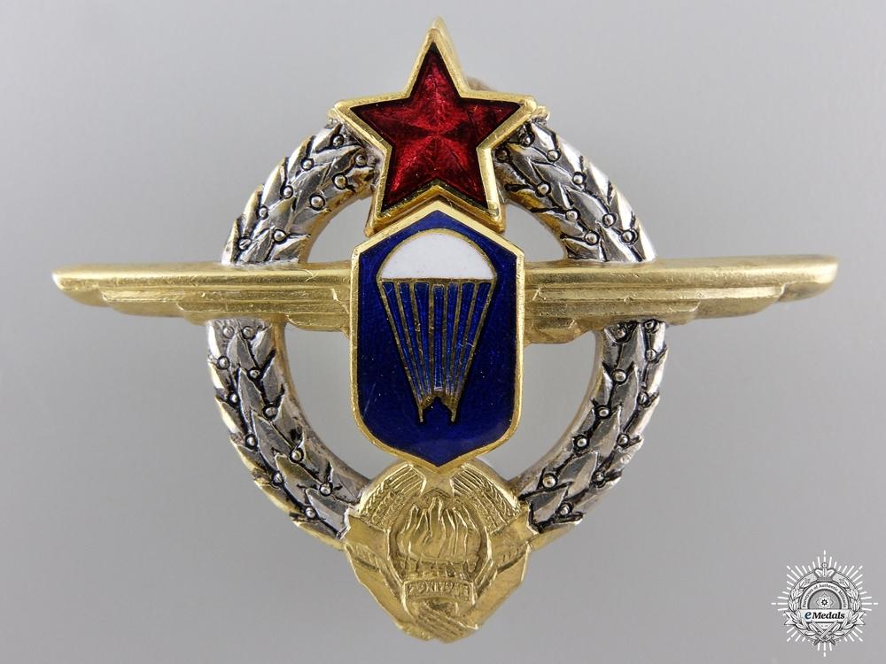 eMedals-A Yugoslavian Paratrooper's Badge