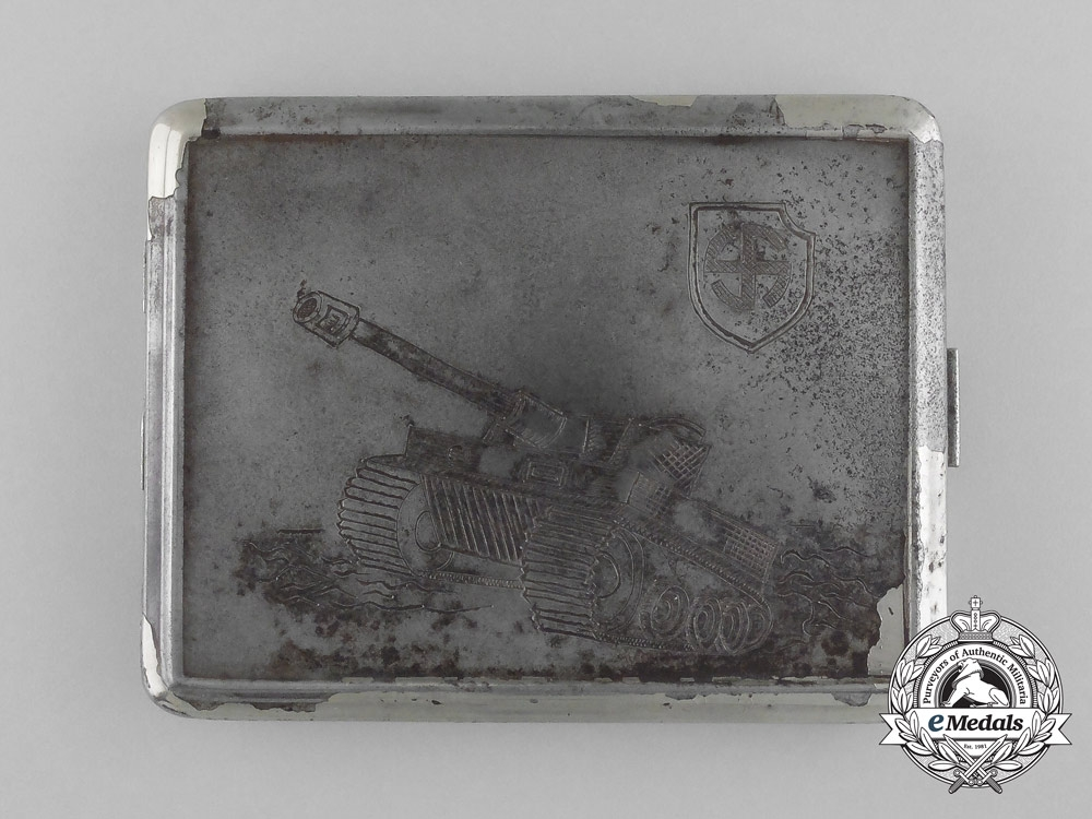 eMedals-A Cigarette Case of the SS-Division (mot.) Wiking Member