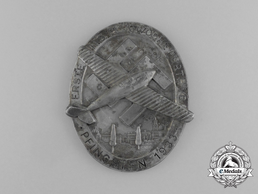 eMedals-Germany. A 1933 First National Socialist Week of Flight in Fürth during Pentecost Medal