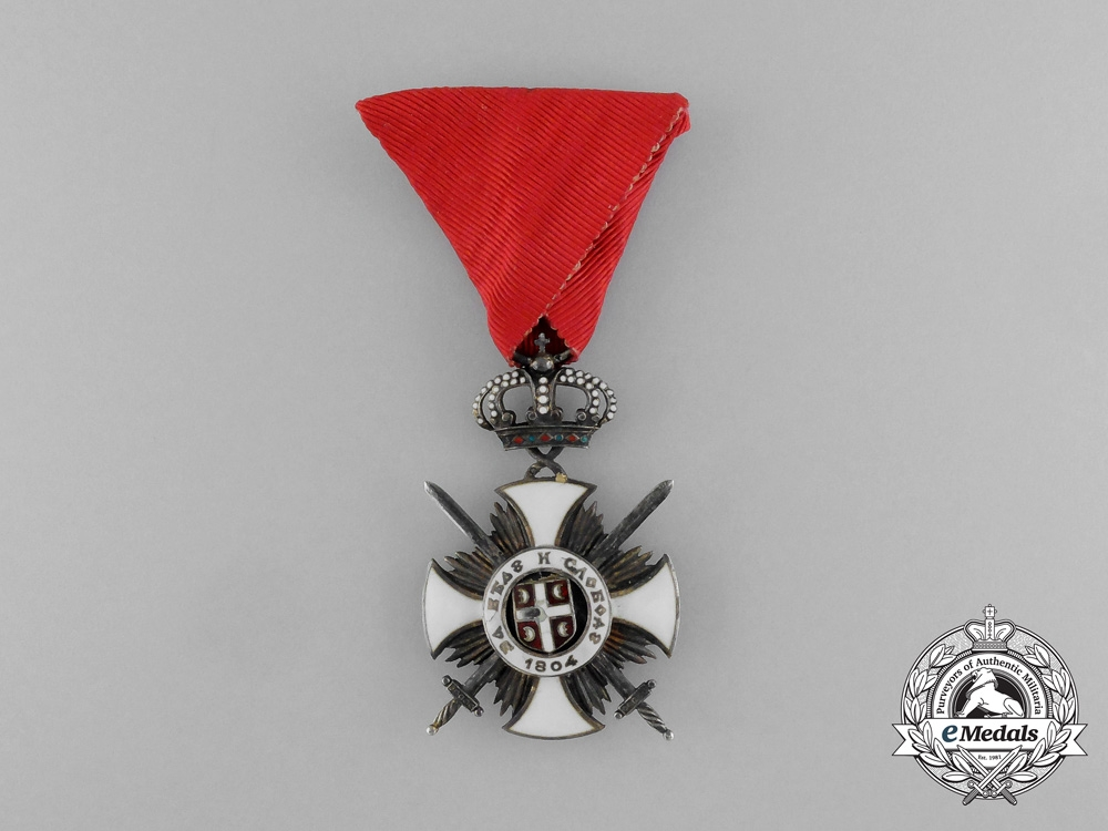 eMedals-A Serbian Order of the Star of Karageorge; 4th Class Officer with Swords