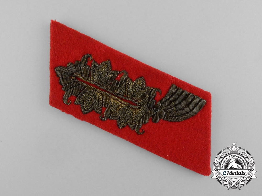 eMedals-A Single Second War German Wehrmacht Heer (Army) General's Collar Tab