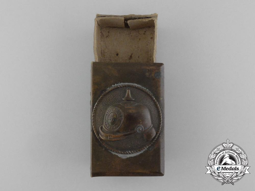 "eMedals-A First War Pickelhaube ""Souvenir of France"" Commemorative Matchbox Cover"