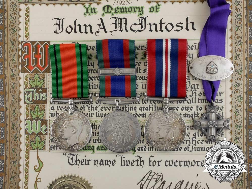 eMedals-A Second War Memorial Cross Group to RCAF Pilot Officer John Alexander McIntosh
