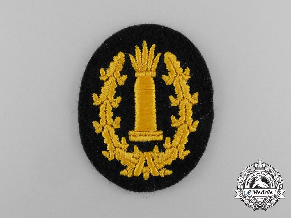 eMedals-A Mint Wehrmacht Heer (Army) Artillery Gunner Proficiency Patch