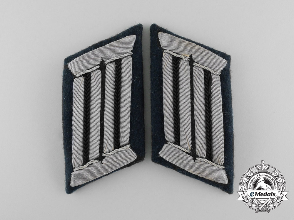 eMedals-Germany, Heer. A Pair of Wehrmacht Combat Engineer Officer's Collar Tabs