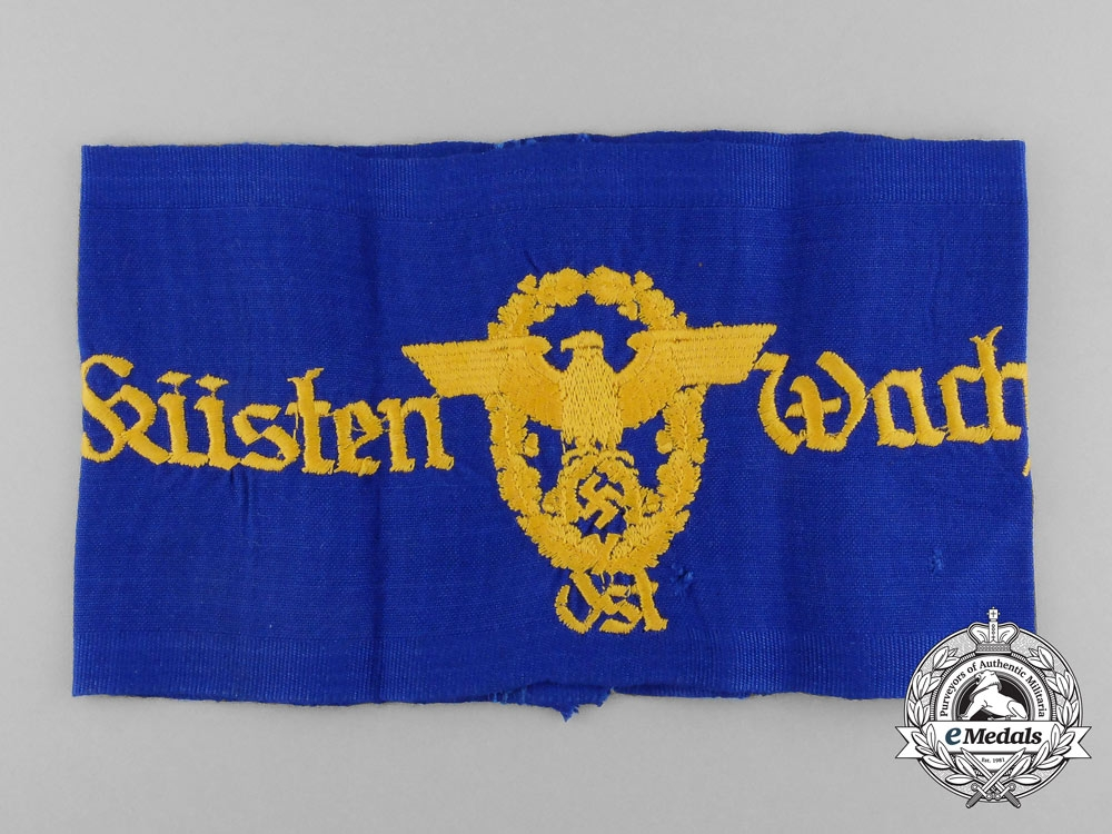 eMedals-A Rare East District Coastal Watch Police (Danzig/Prussia) Armband