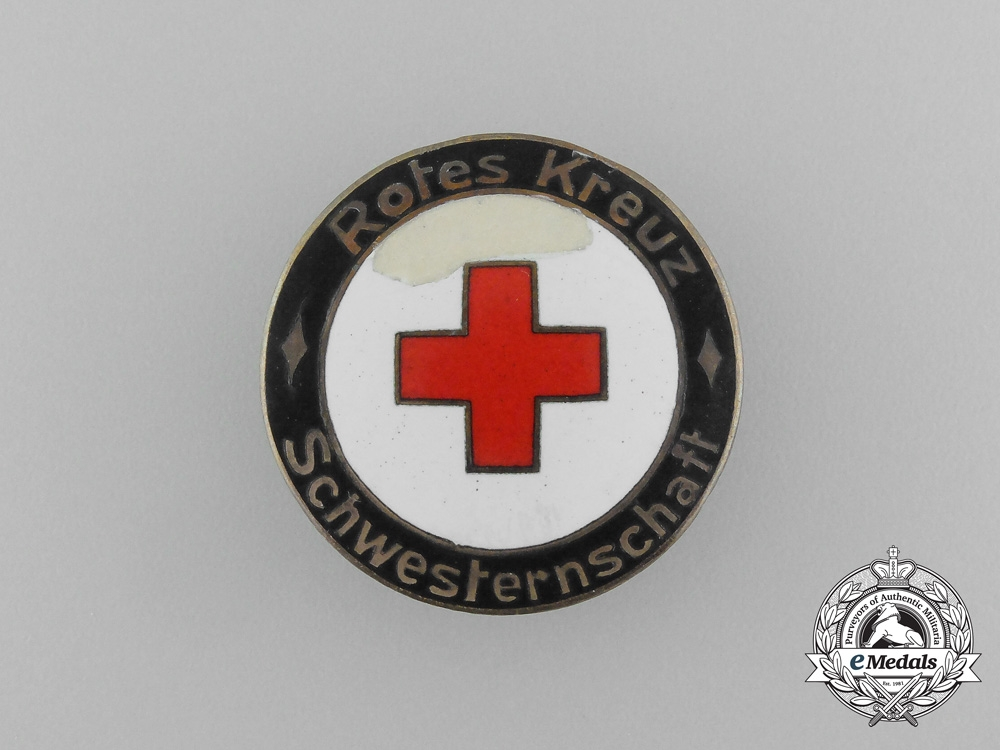 eMedals-An Association of the Sisters of the (DRK) German Red Cross Membership Badge by Klein & Quenzer