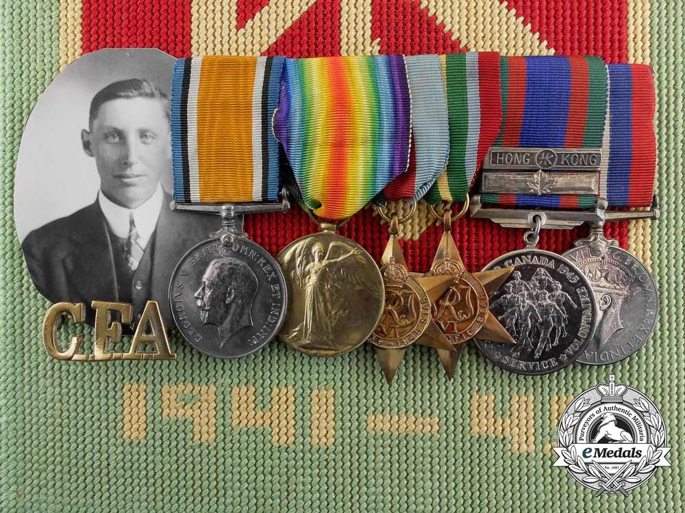 eMedals-A Canadian Hong Kong Internment Group to Sgt. Fletcher; Royal Rifles of Canada