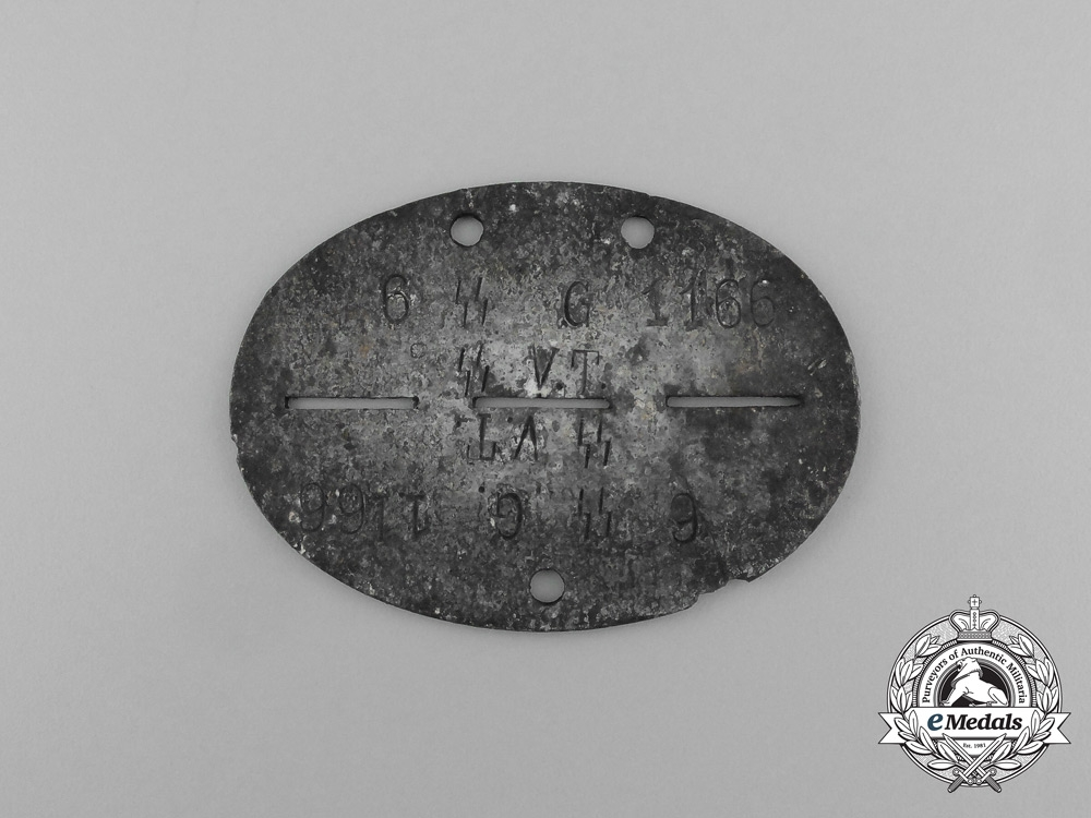 eMedals-A 6th Reserve Formation of the SS-Germania Regiment Identification Tag