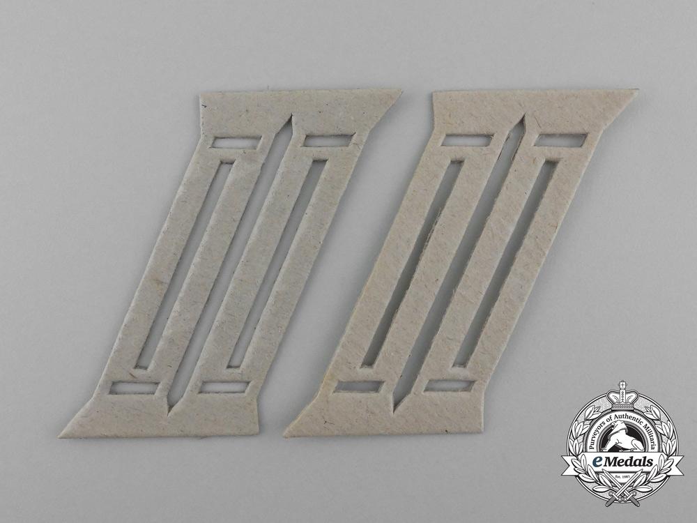eMedals-A Set of Second War German Wehrmacht Officer's Collar Tab Templates