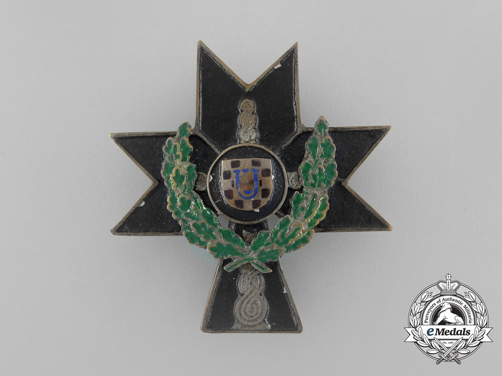 eMedals-A Croatian Order of Iron Trefoil 1941-45; 2nd Class with Oakleaves