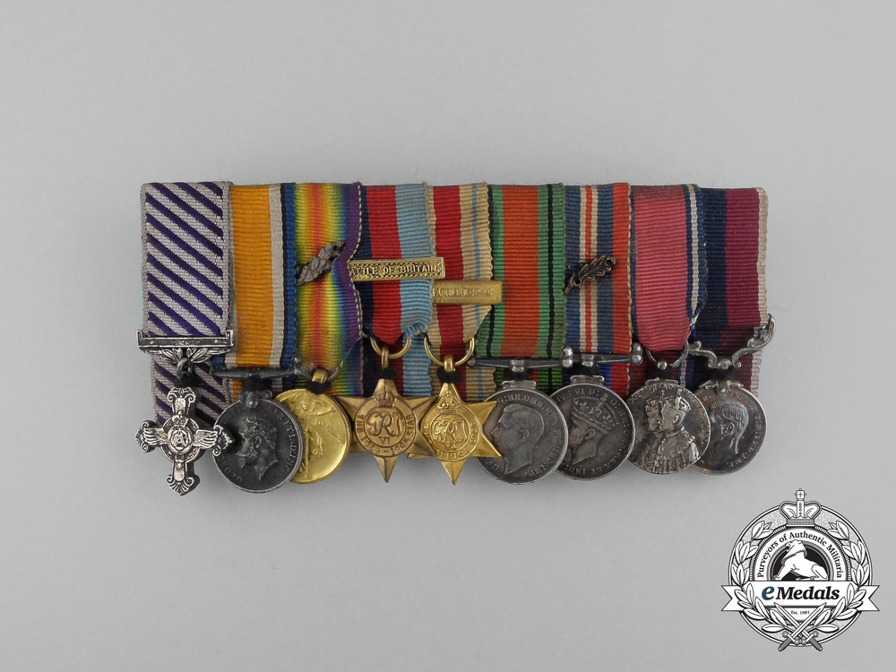 eMedals-A Fine First War DFC Miniature Group to Wing Commander Rogers