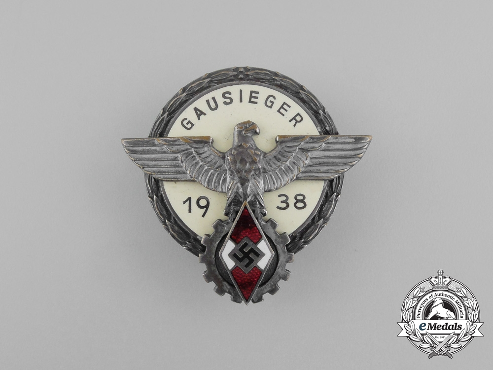 eMedals- A 1938 Victors Badge of the Regional Level National Trade Competition Badge by G. Brehmer
