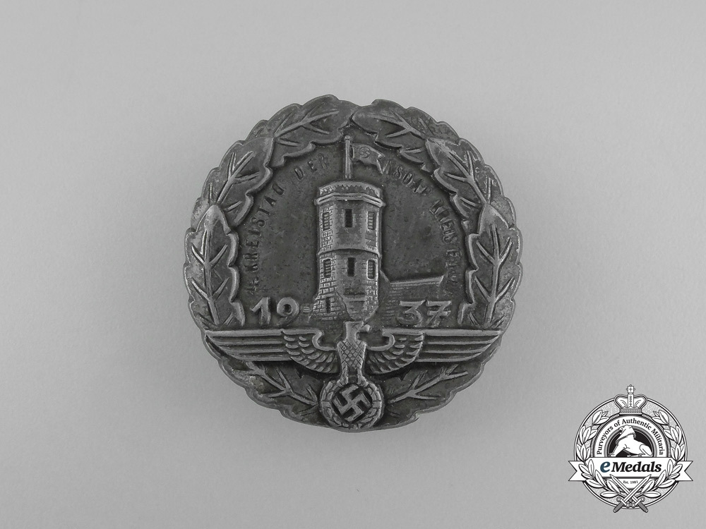 eMedals-Germany, NSDAP. A 1937 Fuld 4th District Council Day Badge
