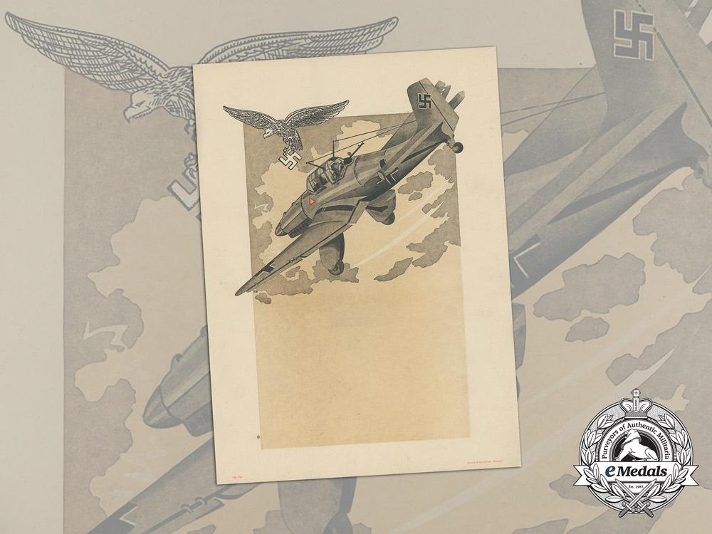 eMedals-A Large Unissued Luftwaffe Marksmanship Award Document