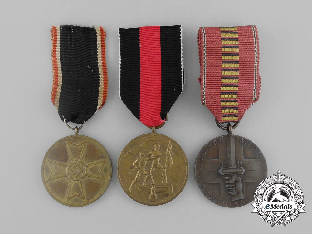 Three third reich german medals awards and decorations for Awards decoration