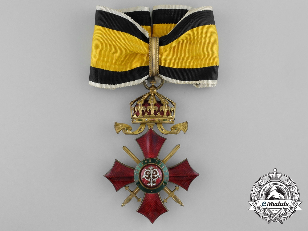 eMedals-A Bulgarian Military Merit Order; Commander with Imperial Crown (1900-1937)