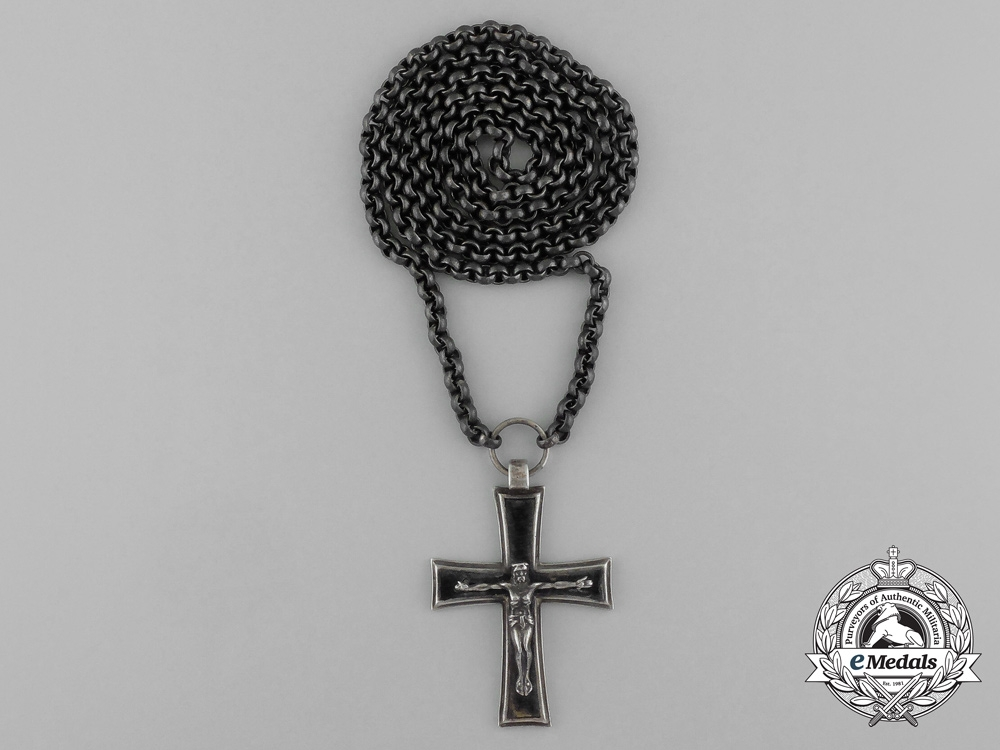 eMedals-A Catholic Wehrmachtspfarrer/Chaplain's Silver Pectoral Cross