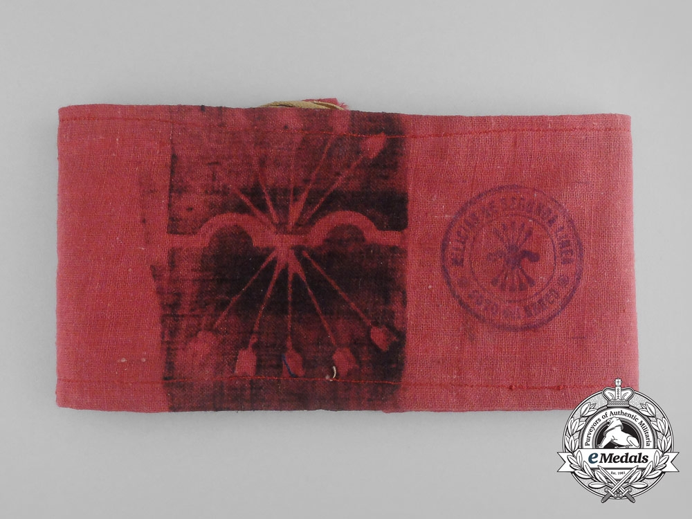 eMedals-A Spanish Civil War Falange Second Line Militias Armband