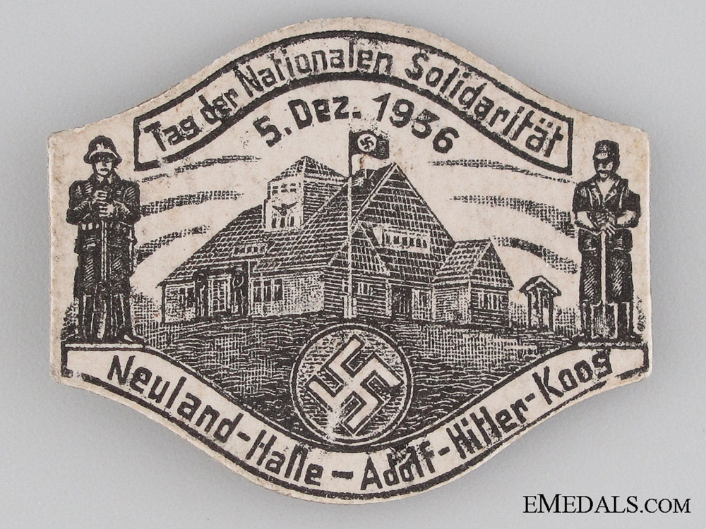 eMedals-Adolf Hitler-Koos National Day of Solidarity, Neuland Hall Tinnie, December 5, 1936