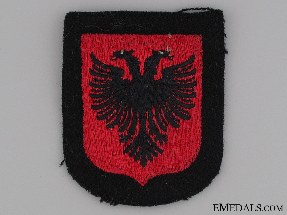 eMedals-Albanian SS Volunteer Sleeve Shield