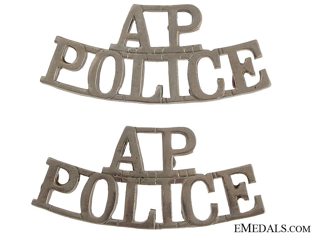 eMedals-Alberta Provincial Police Shoulder Badges