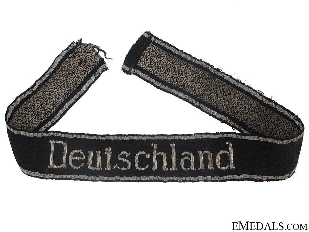 """eMedals-Waffen-SS Deutschland  Flatwire Officer""""¢¯s Cufftitle"""