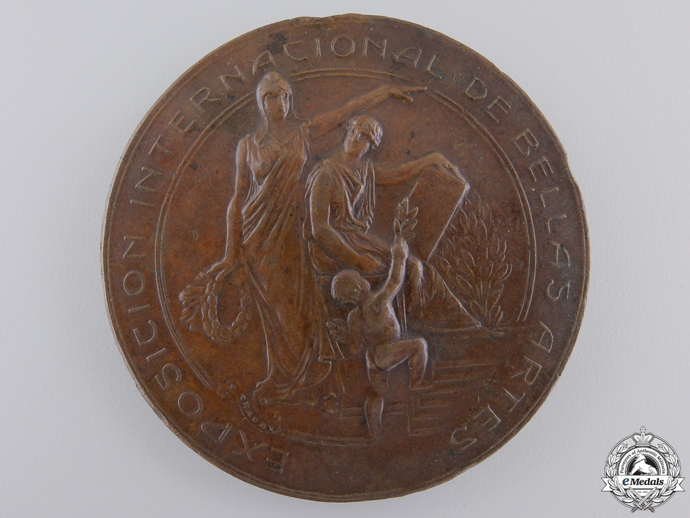 eMedals-An 1810-1910 Centenary of Chile Table Medal