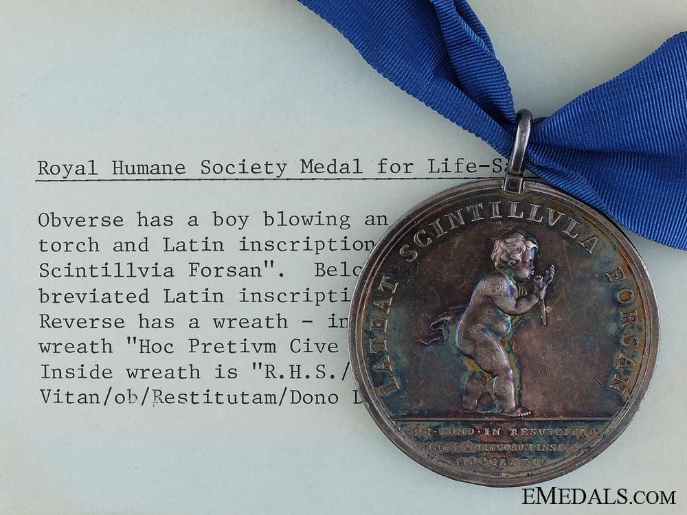 eMedals-An 1815 Royal Humane Society Medal