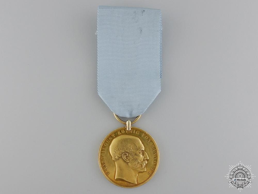 eMedals-An 1846-1878 Hanoverian Golden Bravery Medal