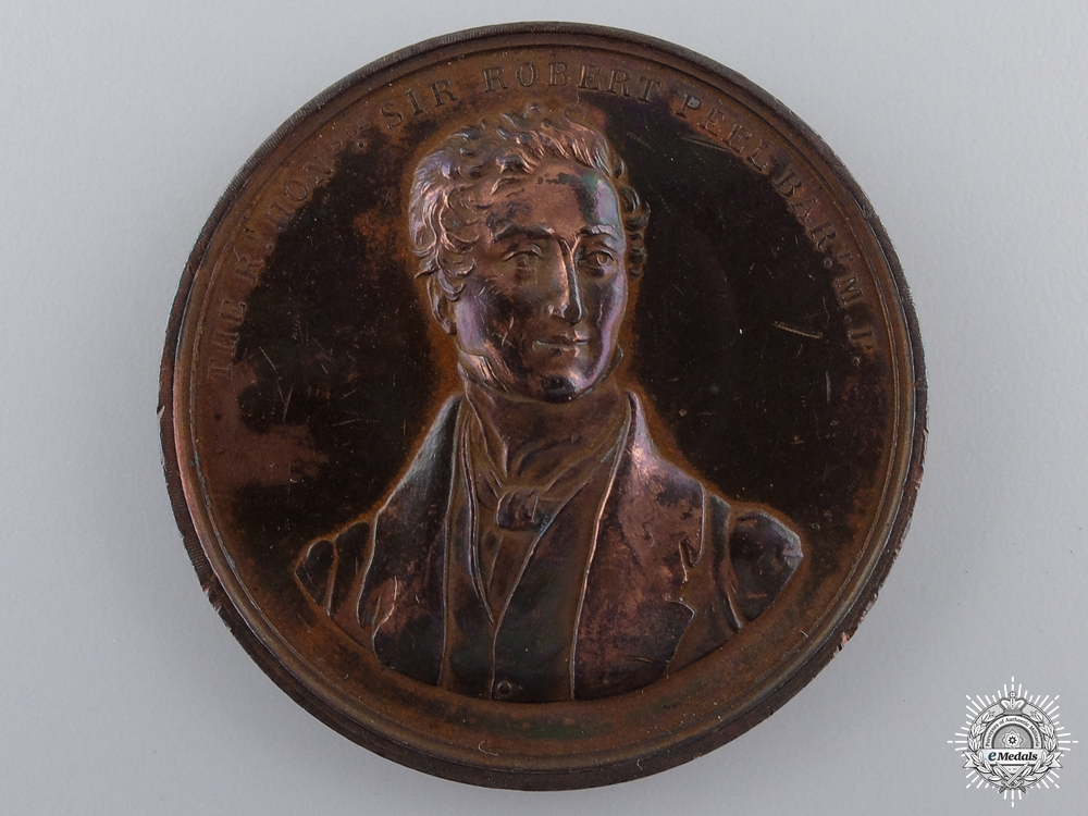 eMedals-An 1850 Death of Sir Robert Peel Commemorative Medal