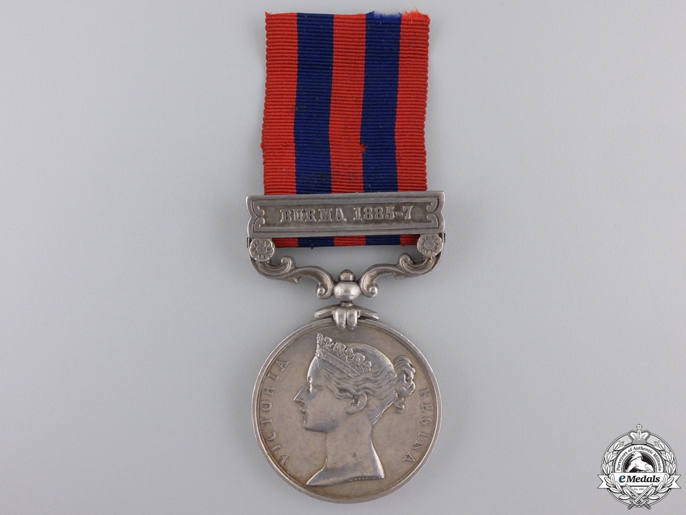 eMedals-An 1854-95 India General Service Medal to Colour Sergeant Staples