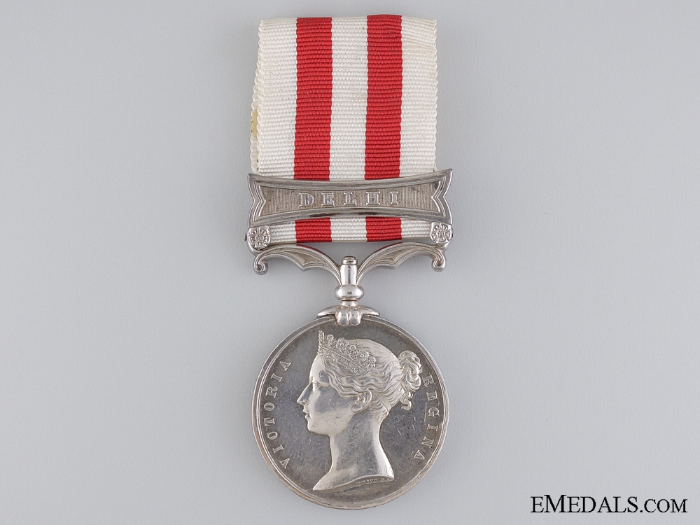 eMedals-An 1858 India Mutiny Medal to the 1st Bengal Fusiliers