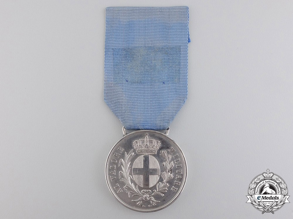 eMedals-Italy. An 1859 Al Valore Militare Medal to Frenchman During Franco-Austrian War