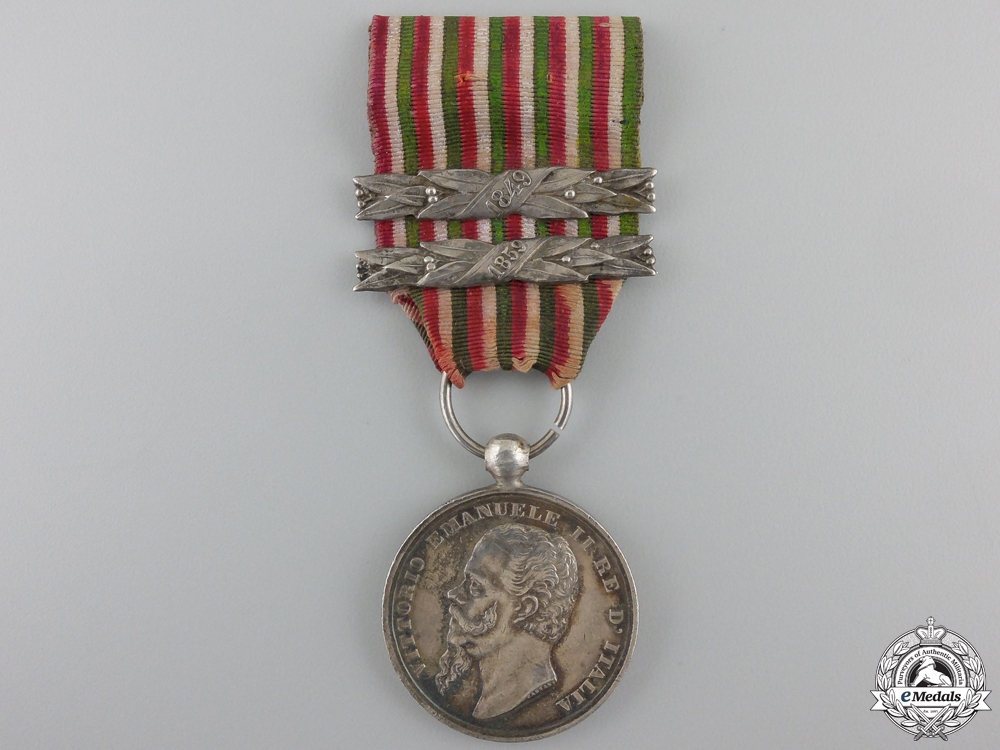 eMedals-An 1859 Italian Independence Medal; Two Bars