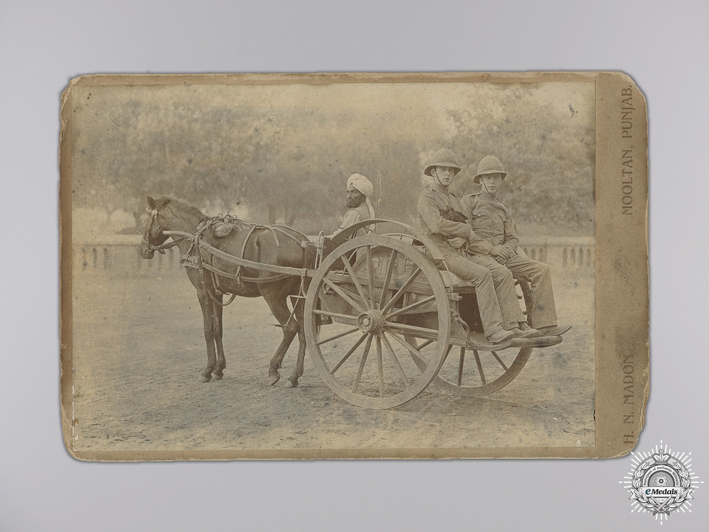 eMedals-An 1860's British Second Anglo-Sikh War Photograph