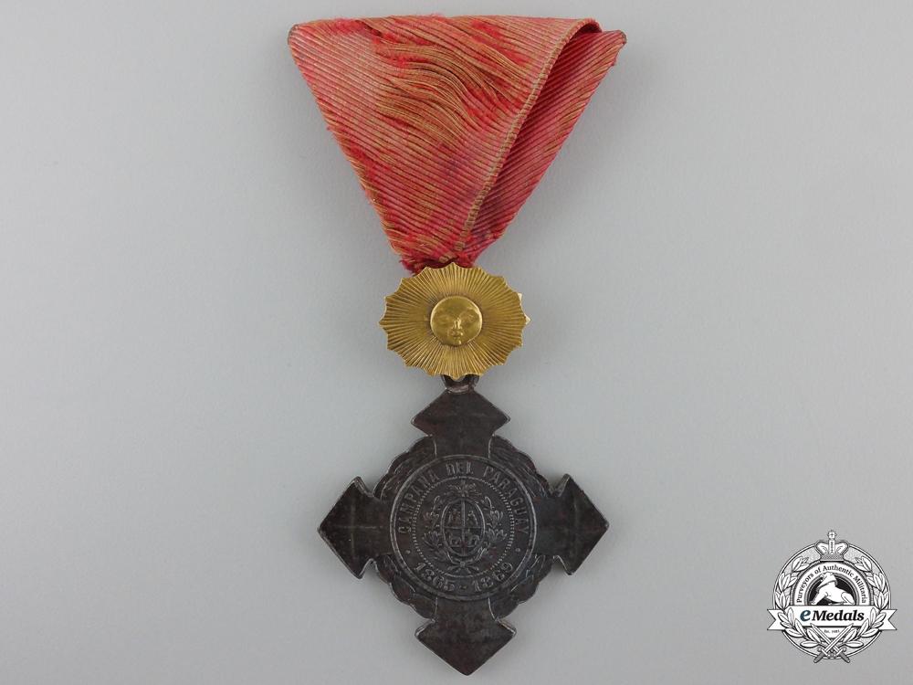eMedals-An 1865-69 Paraguay War Cross; Senior Officer's Version
