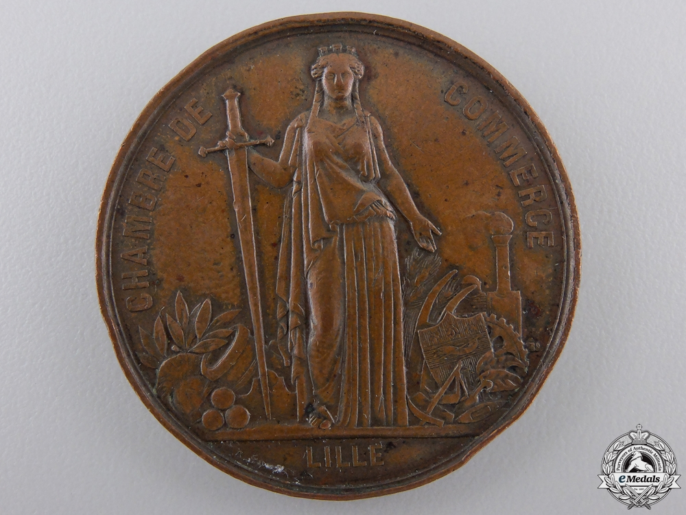eMedals-An 1867 Napoleon III Visit to Lille Medal