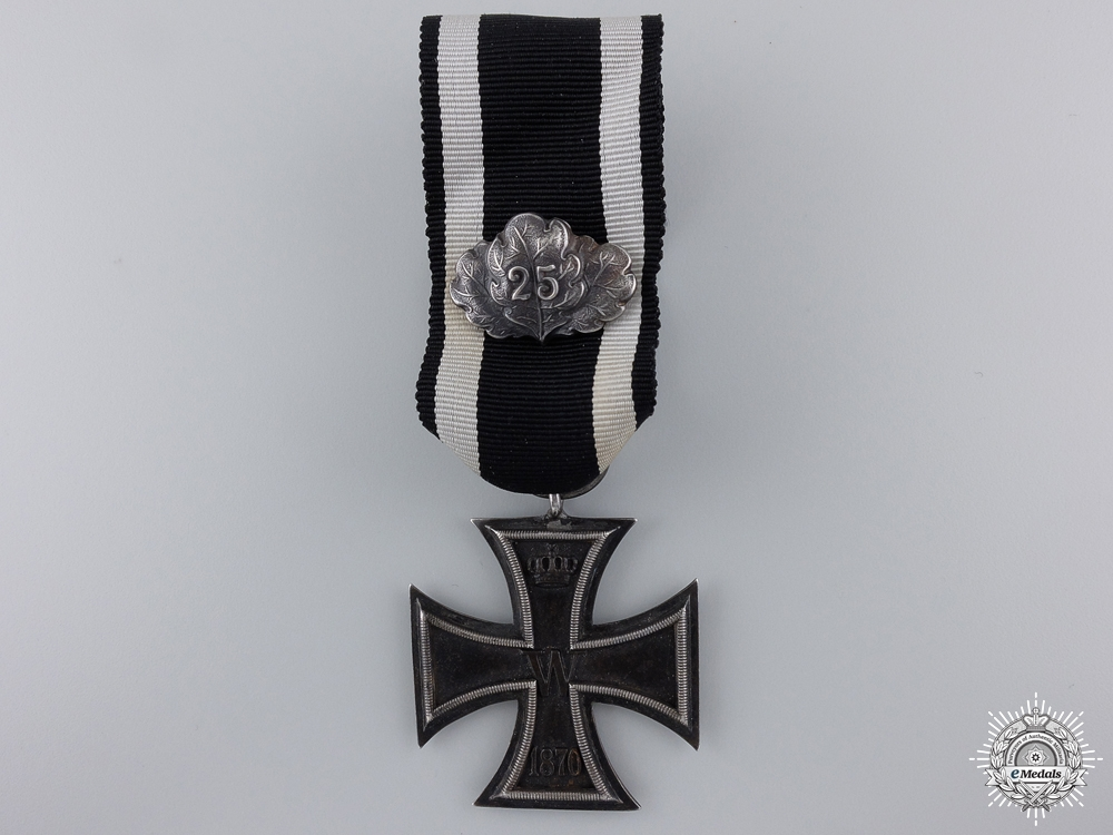 eMedals-An 1870 Iron Cross Second Class with 25 Years Jubilee Spange