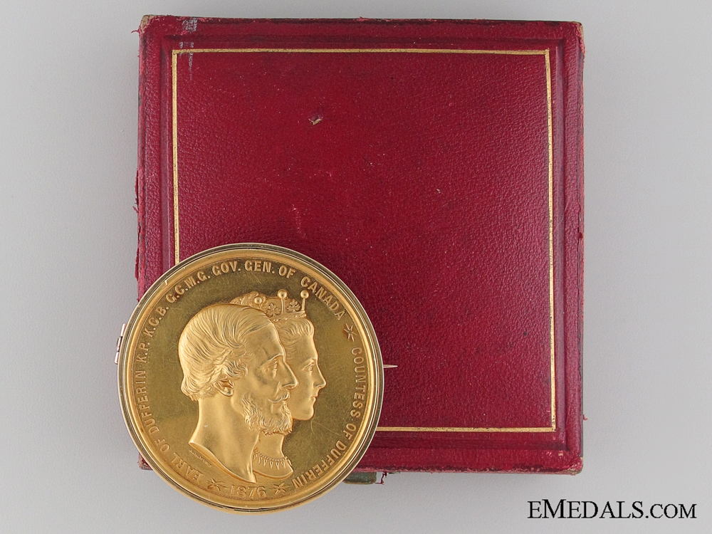 eMedals-An 1877 Gold Lord Dufferin Governor General's Academic Medal