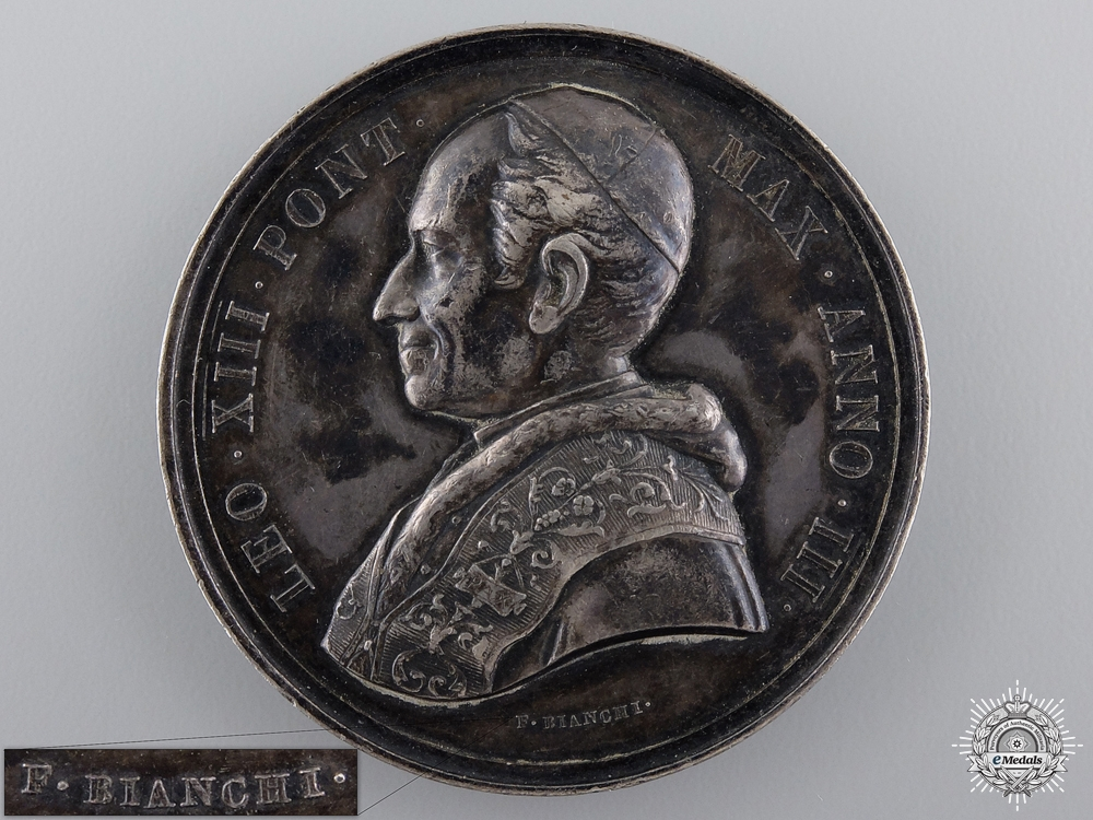eMedals-An 1880-1881 Pope Leo XIII Medal by F.Bianchi