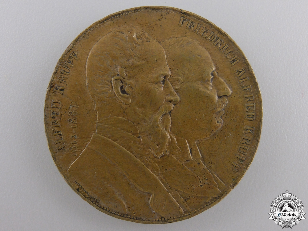eMedals-An 1887 German Industry Krupp Family Commemorative Medal