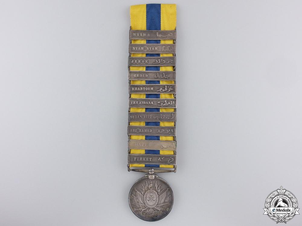 eMedals-An 1896-1908 Khedive's Sudan Medal; Ten Bars