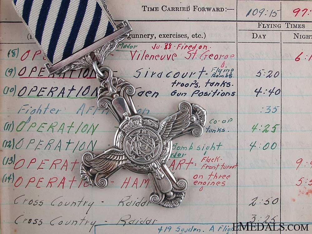eMedals-A 1944 431 Squadron Distinguished Flying Cross for JU-88 Kill