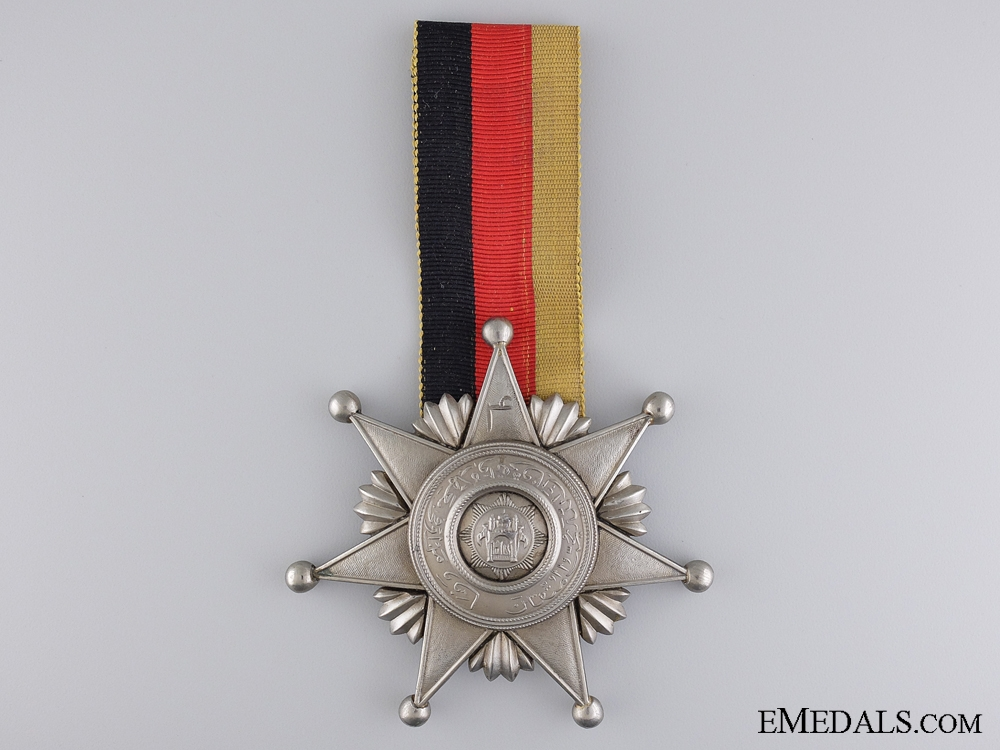 eMedals-An Afghan Order of Fidelity; Fifth type, Breast Decoration Second Class