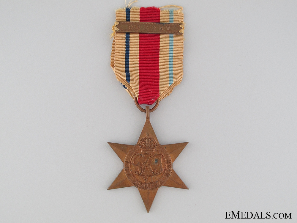 eMedals-An Africa Campaign Star with 8th Army Clasp