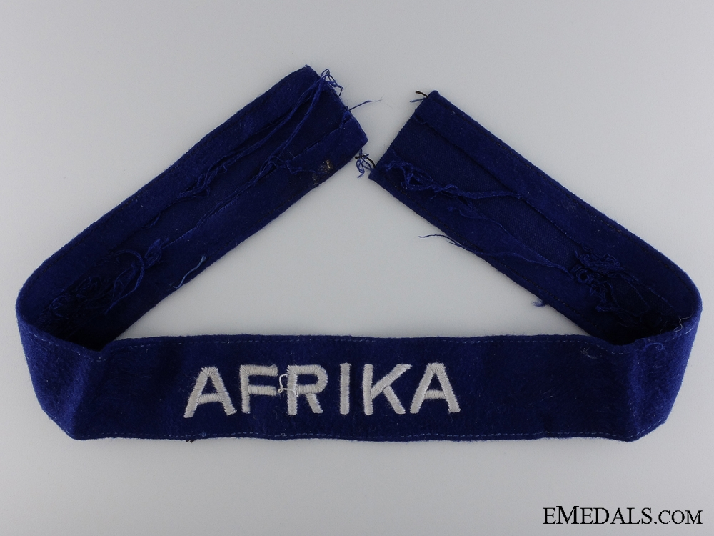eMedals-A Luftwaffe Afrika Campaign Cufftitle; Other Ranks Version