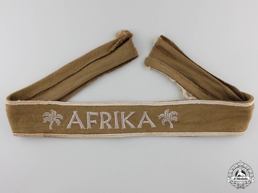eMedals-An Afrika Campaign Cufftitle; Uniform Removed